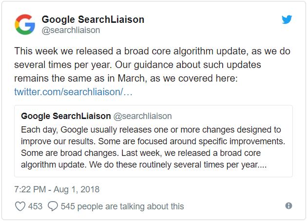 Google Çekirdek Algoritma