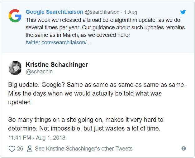 Google Çekirdek Algoritması